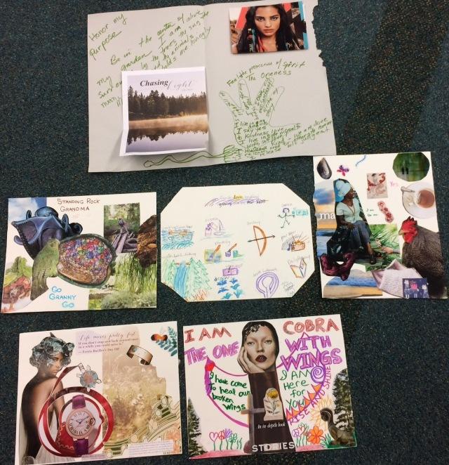 Students' Art Visioning of their True Self Warrioress Medicine Shields