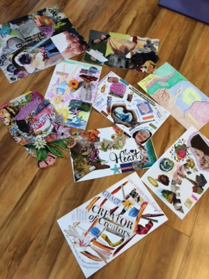 Students' Art Vision creations using female archetypes